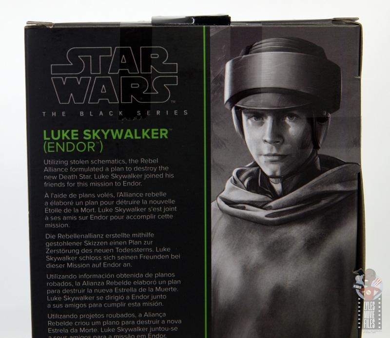 star wars the black series luke skywalker endor figure review - package bio