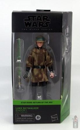 star wars the black series luke skywalker endor figure review - package front
