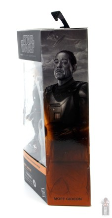star wars the black series moff gideon figure review - package side