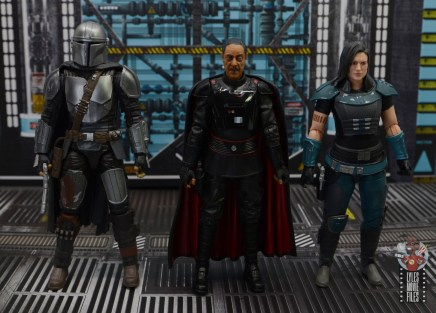 star wars the black series moff gideon figure review - scale with mandalorian and cara dune
