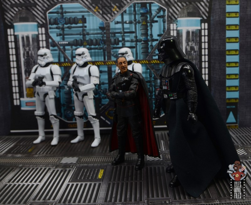 star wars the black series moff gideon figure review - walking with darth vader