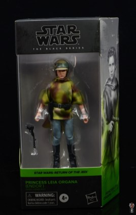 star wars the black series princess leia endor figure review - package front