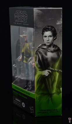 star wars the black series princess leia endor figure review - package side
