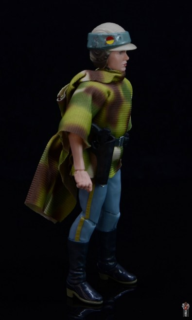star wars the black series princess leia endor figure review - poncho right side