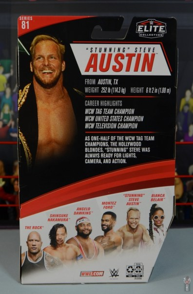 wwe elite series 81 stunning steve austin figure review - package rear