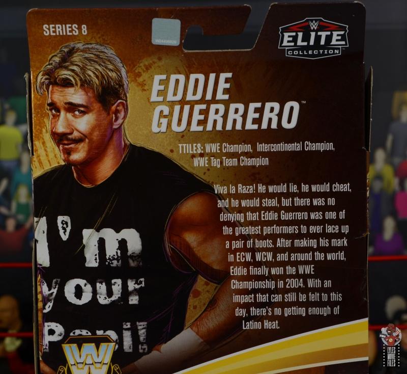 wwe legends series 8 eddie guerrero figure review - package bio