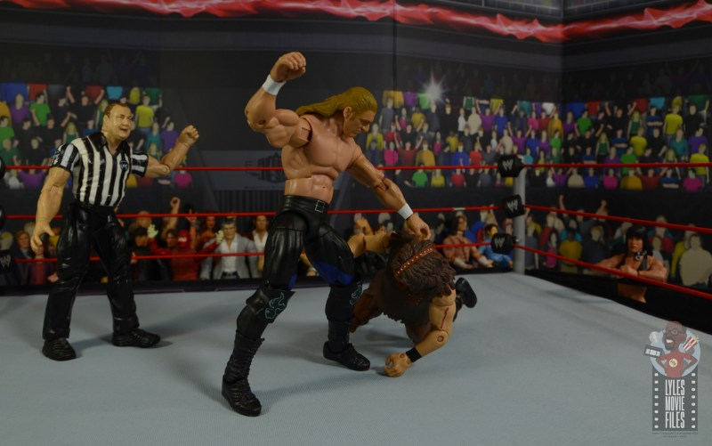 wwe triple h and chyna figure set review - triple h punching mankind
