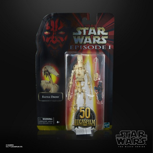 STAR WARS THE BLACK SERIES LUCASFILM 50TH ANNIVERSARY 6-INCH BATTLE DROID Figure - in pck (1)