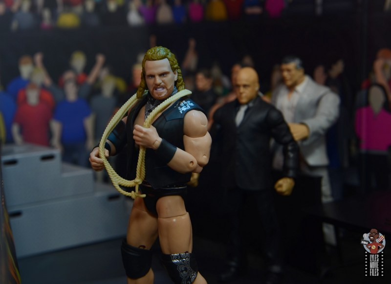 aew unrivaled hangman adam page figure review - walking to the ring