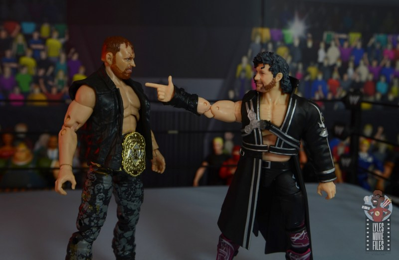aew unrivaled jon moxley figure review - face off with kenny omega