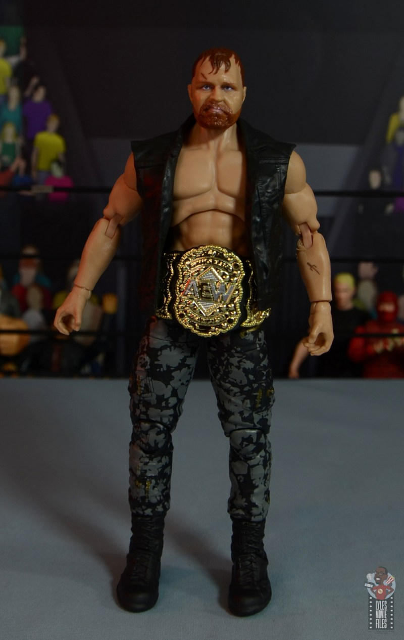 aew unrivaled jon moxley figure review - front with ring vest