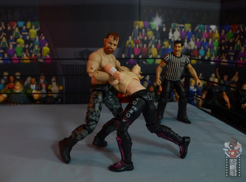 aew unrivaled jon moxley figure review - paradigm to kenny omega
