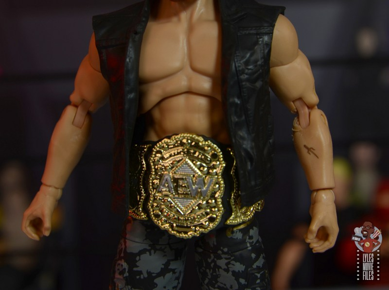 aew unrivaled jon moxley figure review - tattoo closeup