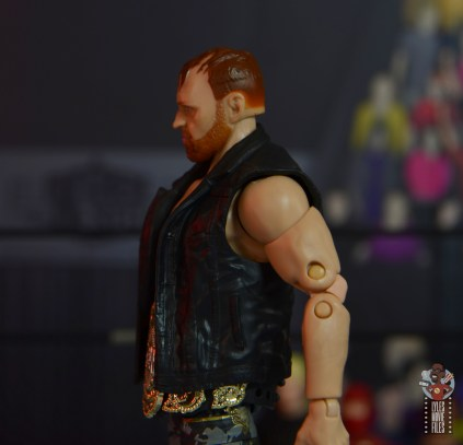 aew unrivaled jon moxley figure review -vest detail left side