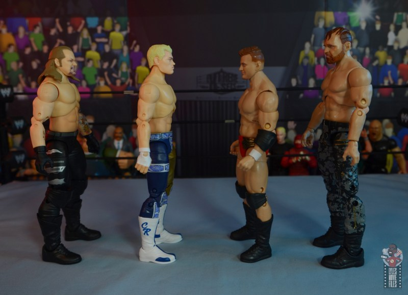 aew unrivaled mjf figure review -facing chris jericho, cody rhodes and jon moxley