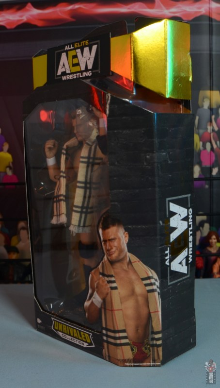 aew unrivaled mjf figure review -package left side