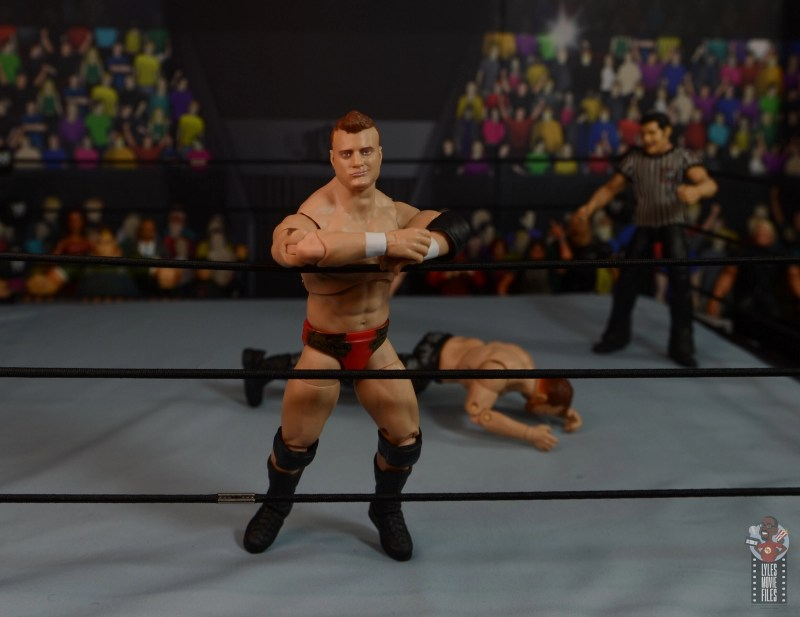aew unrivaled mjf figure review -resting on ropes