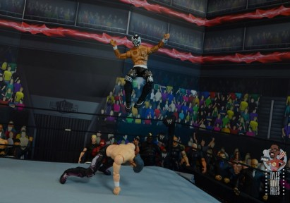 aew unrivaled rey fenix figure review -double foot stomp to kenny omega