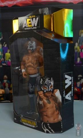 aew unrivaled rey fenix figure review - package left side