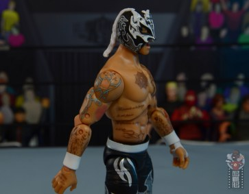 aew unrivaled rey fenix figure review - right side tattoo detail