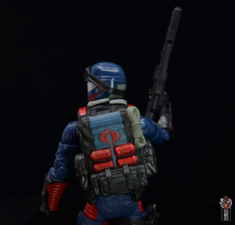 gi joe classified series cobra viper figure review - backpack detail