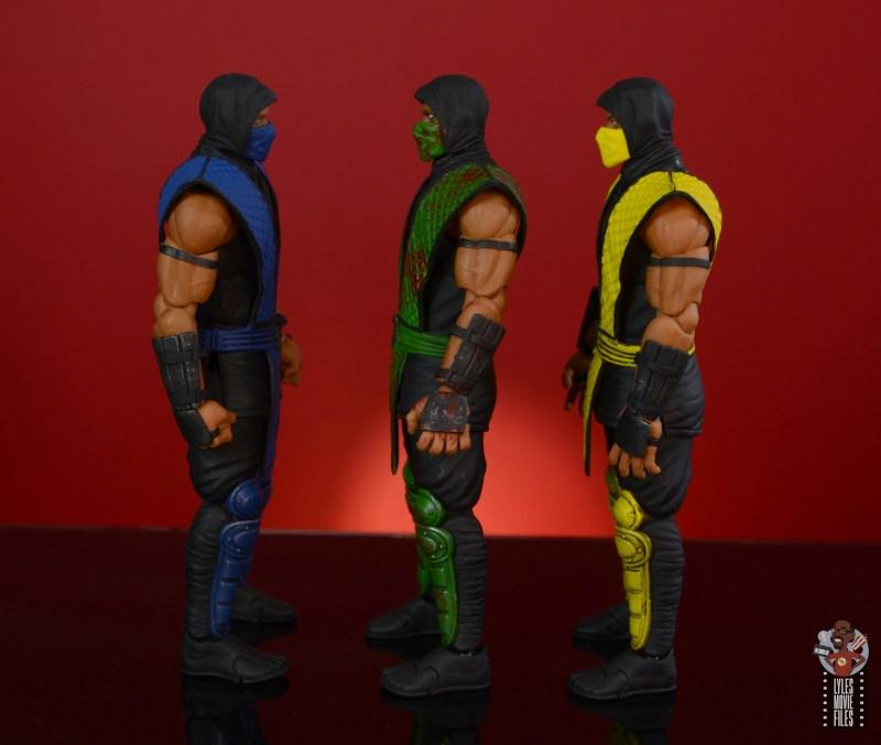 storm collectibles mortal kombat reptile figure review - facing sub-zero and scorpion