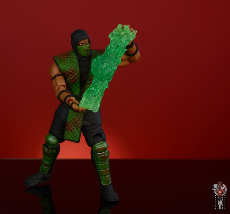storm collectibles mortal kombat reptile figure review - force ball