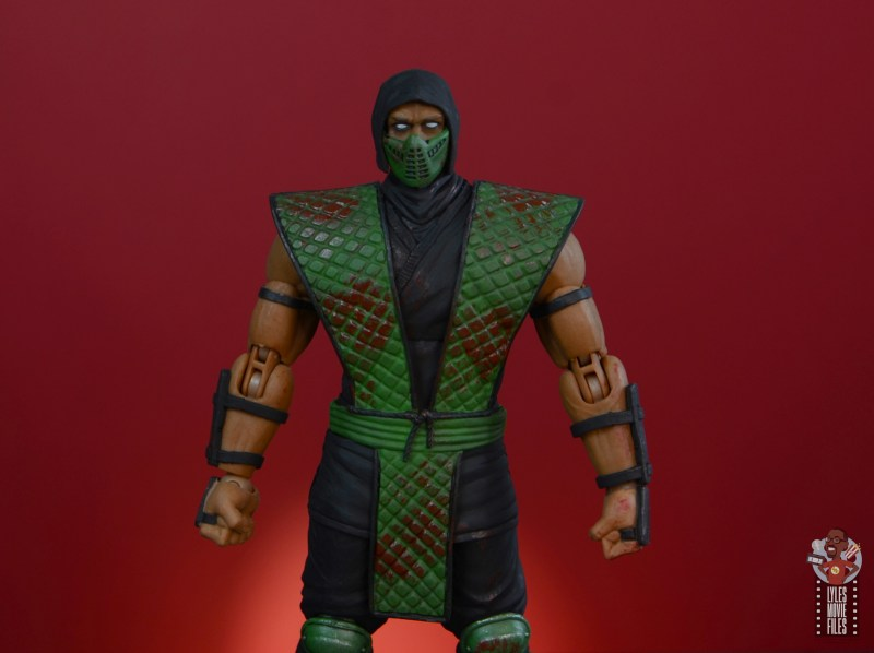 storm collectibles mortal kombat reptile figure review - wide shot with mask