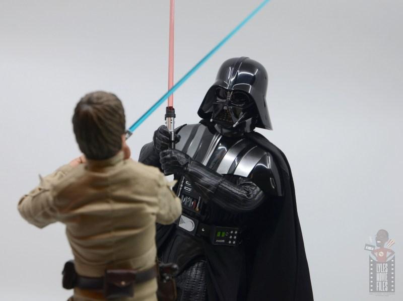 hot toys empire strikes back darth vader figure review - closing in on luke skywalker