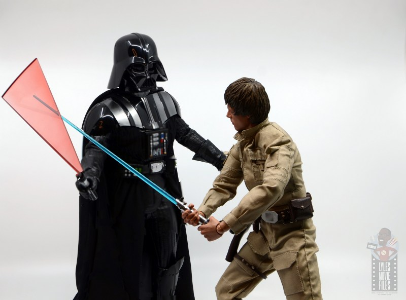 hot toys empire strikes back darth vader figure review - countered by luke skywalker