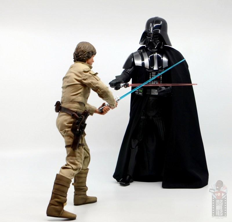 hot toys empire strikes back darth vader figure review -defending against luke