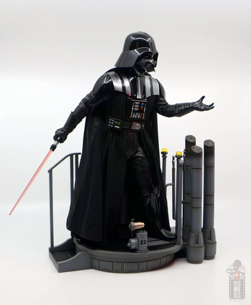 hot toys empire strikes back darth vader figure review - on base