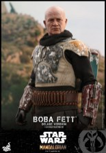 hot toys the mandalorian boba fett figure - armor closeup