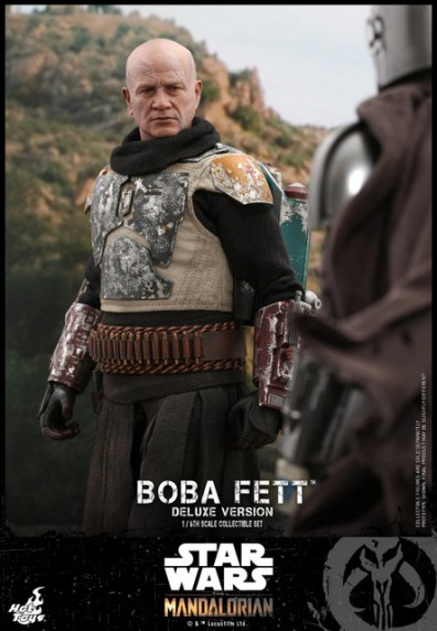 hot toys the mandalorian boba fett figure -wearing armor
