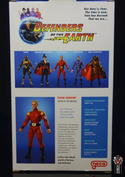 neca defenders of the earth flash gordon figure review - package rear
