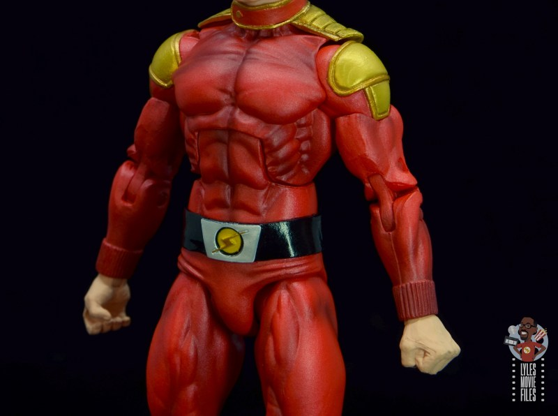 neca defenders of the earth flash gordon figure review - pauldrons and belt detail