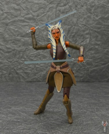 star wars the black series ahsoka tano figure review - drawing lightsabers
