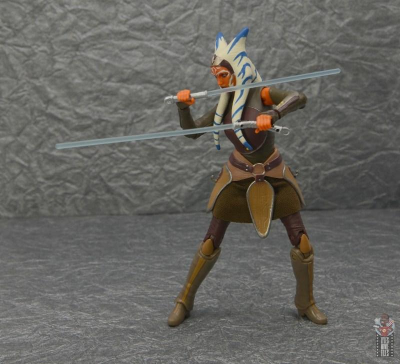 star wars the black series ahsoka tano figure review - lightsabers forward