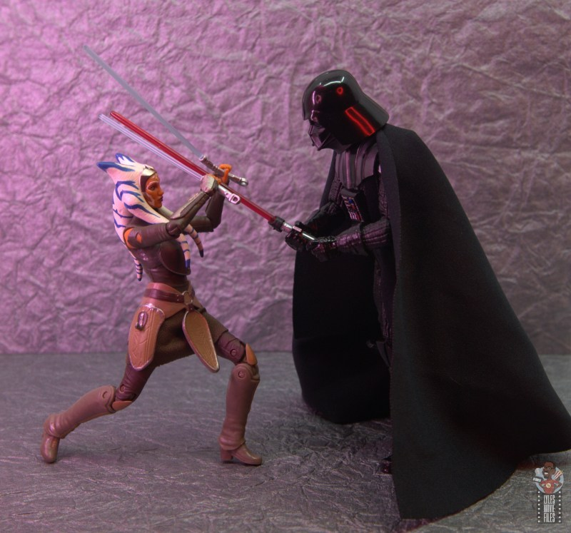 star wars the black series ahsoka tano figure review - vs darth vader
