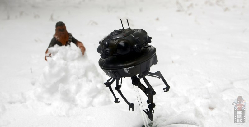 star wars the black series imperial probe droid figure review - going after chewbacca