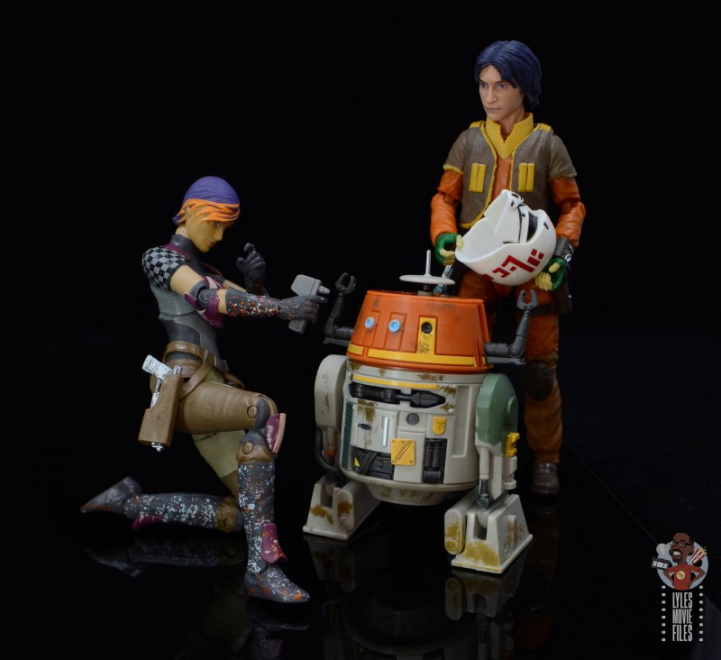 star wars the black series sabine wren figure review - ready to spray paint chopper