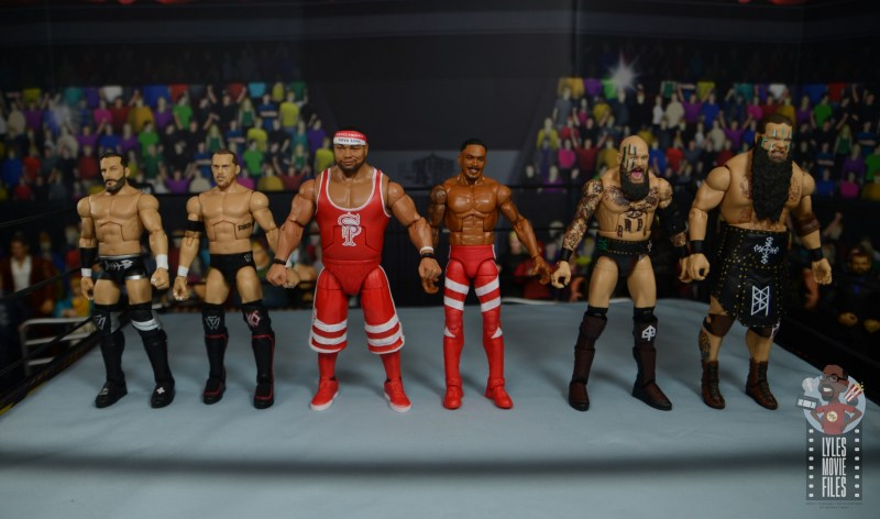 wwe elite 81 street profits figure review - scale with undisputed era and viking raiders