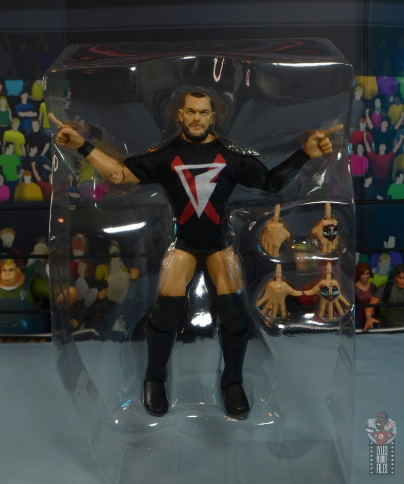 wwe elite 82 finn balor figure -accessories in tray