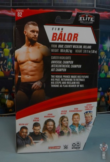 wwe elite 82 finn balor figure - package rear