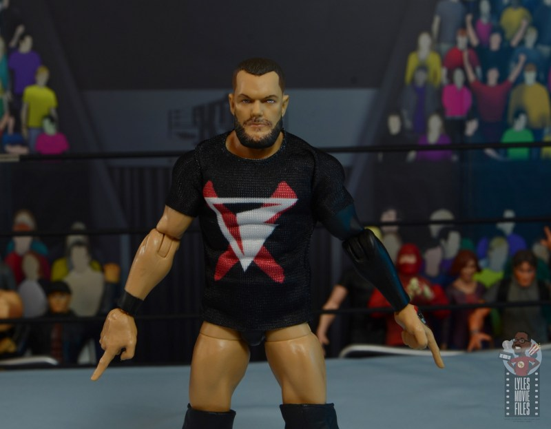 wwe elite 82 finn balor figure - shirt front