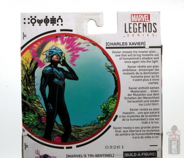 marvel legends house of x charles xavier figure review - package bio