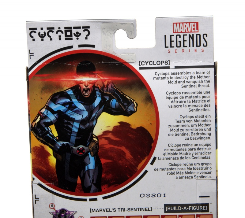 marvel legends house of x cyclops figure review - package bio