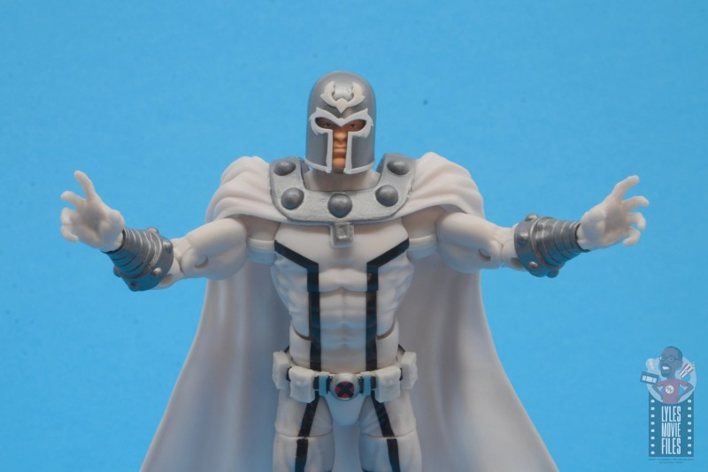 marvel legends house of x magneto figure review - arms out