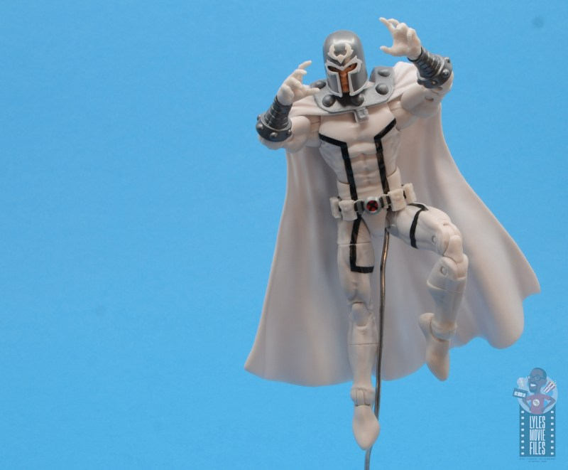 marvel legends house of x magneto figure review - in air