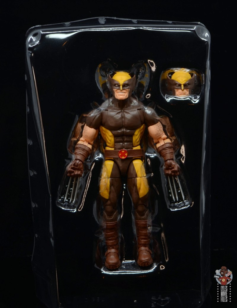 marvel legends house of x wolverine figure review - figure in tray